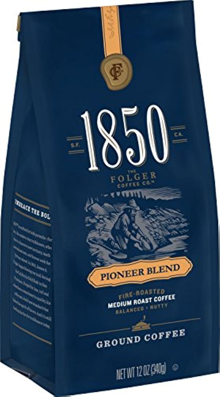 フォルジャー コーヒー 1850 パイオニア ブレンド ミディアムロースト グラインドコーヒー 挽き豆 340グラム Folgers [並行輸入]