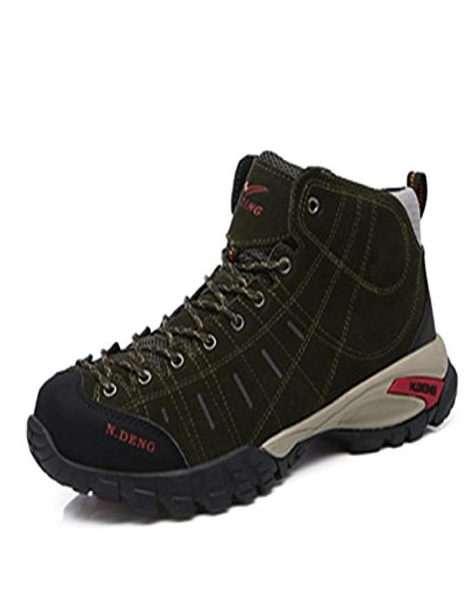 フェデレーション難しいほぼ[HONGJING] トレッキングシューズ 登山靴 メンズ ハイキングシューズ 防水 防滑 ウォーキングシューズ アウトドア トラベル ハイカット キャンプ シューズ 暖かい靴 大きいサイズ クッション性/通気性