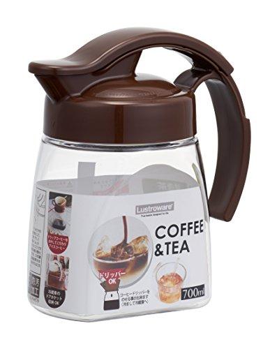 岩崎 冷水筒 ブラウン 700ml スライドピッチャー コーヒー タテ・ヨコ K-1294
