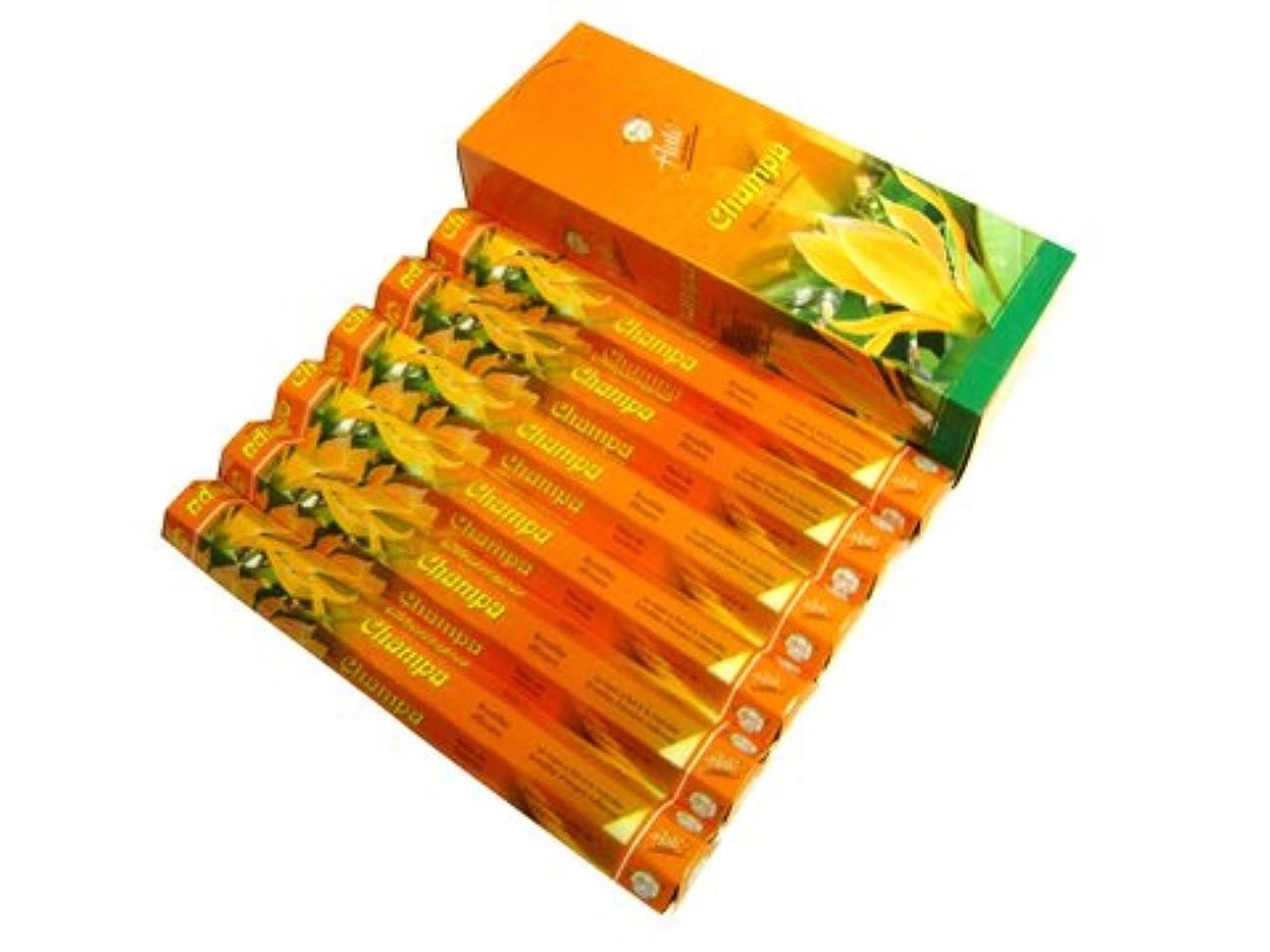 従来の有彩色のマルクス主義FLUTE(フルート) チャンパ香 スティック CHAMPA 6箱セット