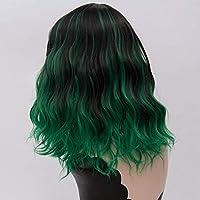 ウィッグゴールドウェーブショートパラグラフ22色合成ロールプレイングウィッグ前髪ピースナチュラルパープルピンクレディースヘアウィッグ GYMAA