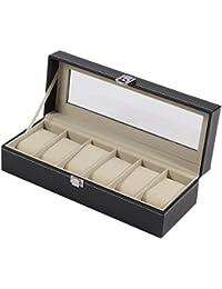 (ドレイス) DOREIS 高級 腕時計収納ケース 腕時計収納ボックス 6本 ブラック
