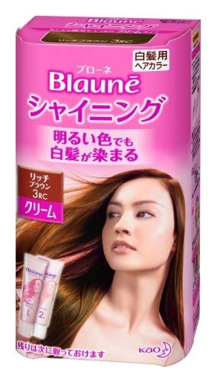 意味のある血色の良いリフレッシュ花王 ブローネ シャイニングヘアカラー クリーム 1剤50g/2剤50g(医薬部外品)《各50g》<カラー:リッチBR>