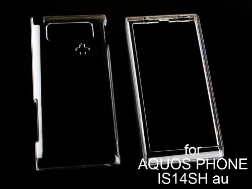 AQUOS PHONE IS14SH専用クリスタルクリアハードケース・デコ電にも/クリア