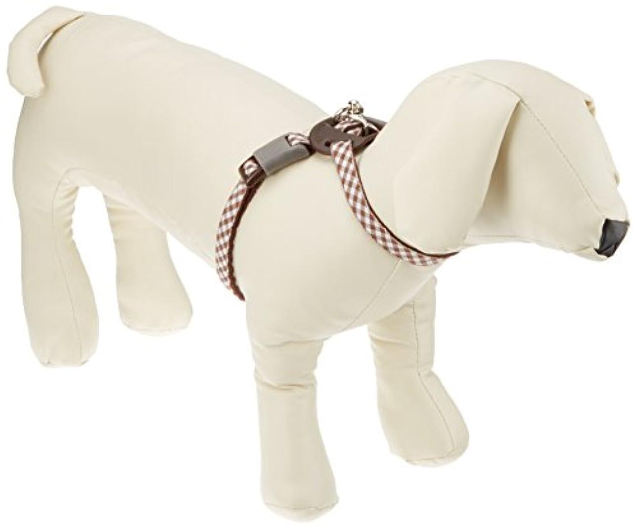 エンコミウム大統領カセットアースペットTK BDプチチェック8胴輪 S(小型犬用) 茶 [犬用ハーネス]