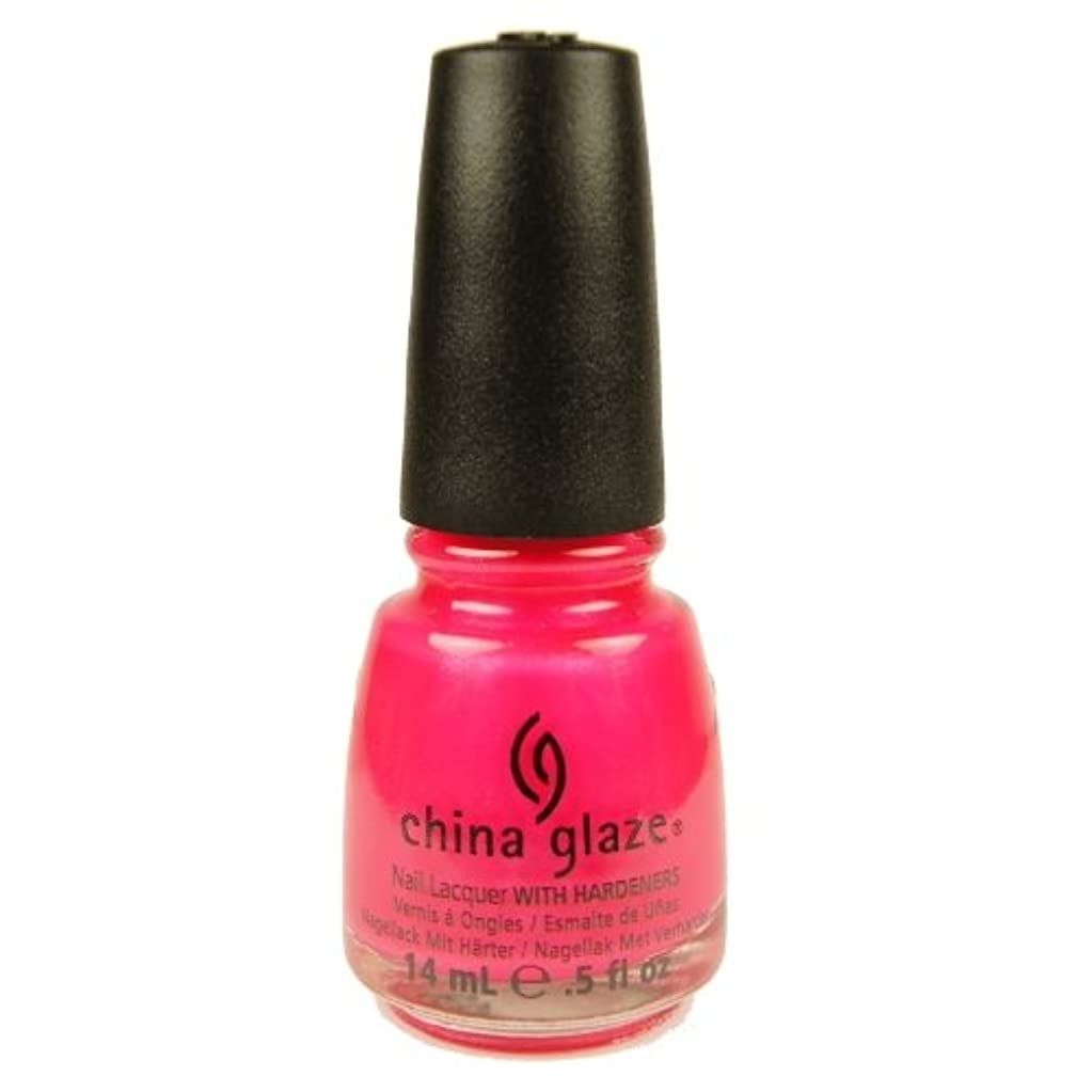 固体要旨何もないCHINA GLAZE Summer Neon Polish - Love's a Beach (並行輸入品)