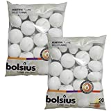 BOLSIUS Unscented Floating Candles - Set of 40 White Floating Candles - Cute and Elegant Burning Candles - Candles with Nice
