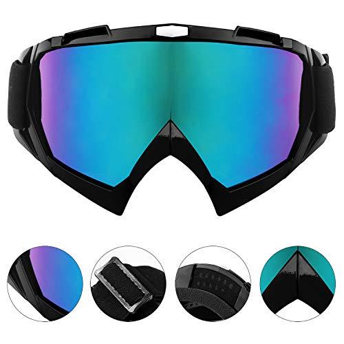 YUANSHOP1 スキーゴーグル UVカット/防風/防雪/防塵/耐衝撃/曇り止め スノボートゴーグル メガネ/ヘルメット対応 バイク、登山、サバゲー、スキーなどアウトドア活動に対応 メンズ/レディース兼用 巾着袋1枚付き (カラーレンズ)