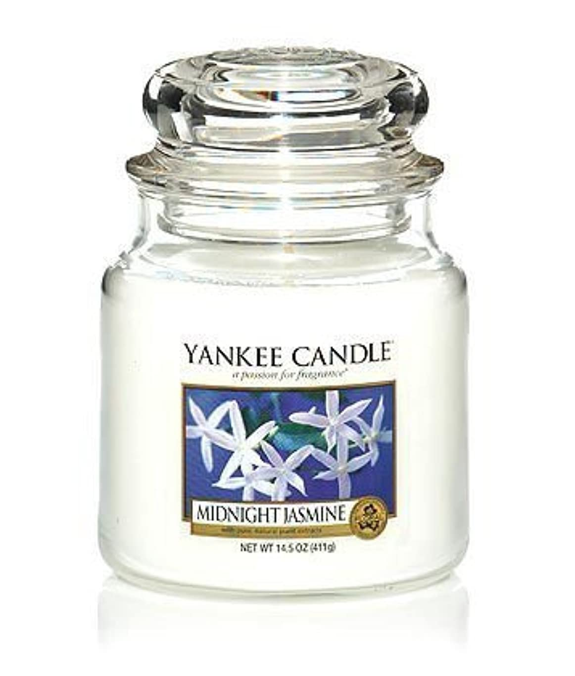 国九共産主義者Yankee Candle Midnight Jasmine Medium Jar Candle, Floral Scent by Yankee Candle [並行輸入品]