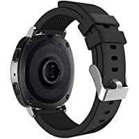 Gear Sport/Gear S2 Classic バンド - ATiC 20mm Soft Silicone Strap for Samsung Gear Sport SM-R600/Gear S2 Classic用20mm ソフト 高級 シリコーン製腕時計ストラップ/バンド 交換ベルト BLACK