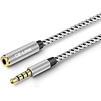 ヘッドホン延長用コード 4極ミニプラグ採用 標準3.5mm ステレオヘッドホン延長 ケーブル 1.5メートル(1.5, 銀)