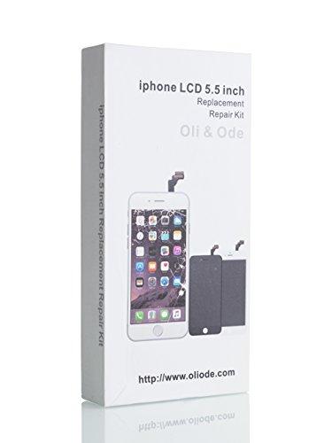 CWX iPhone6 Plus 5.5インチ交換修理用フロントパネル(フロントガラスデジタイザ)タッチパネル 液晶パネルセット 修理工具付属 (ブラック)