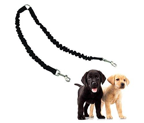 ADOGO ペット用品 リード 犬用二頭引きリード ダブルリード 多頭飼いに便利 伸縮 丈夫 小型・中型用 お散歩に最適