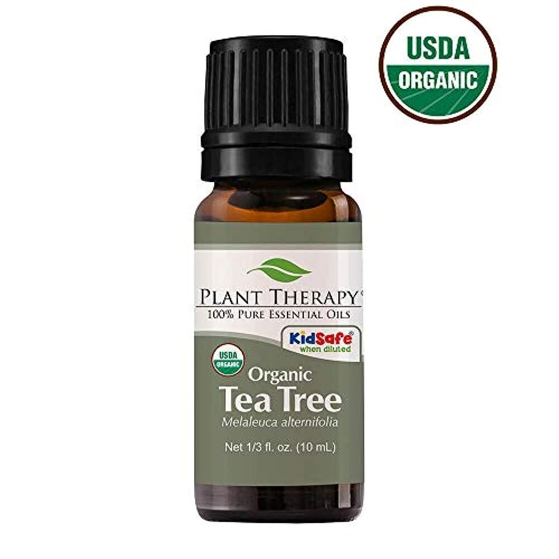 ぴかぴか上向き小さなPlant Therapy Essential Oils (プラントセラピー エッセンシャルオイル) オーガニック ティーツリー (メラルーカ) エッセンシャルオイル