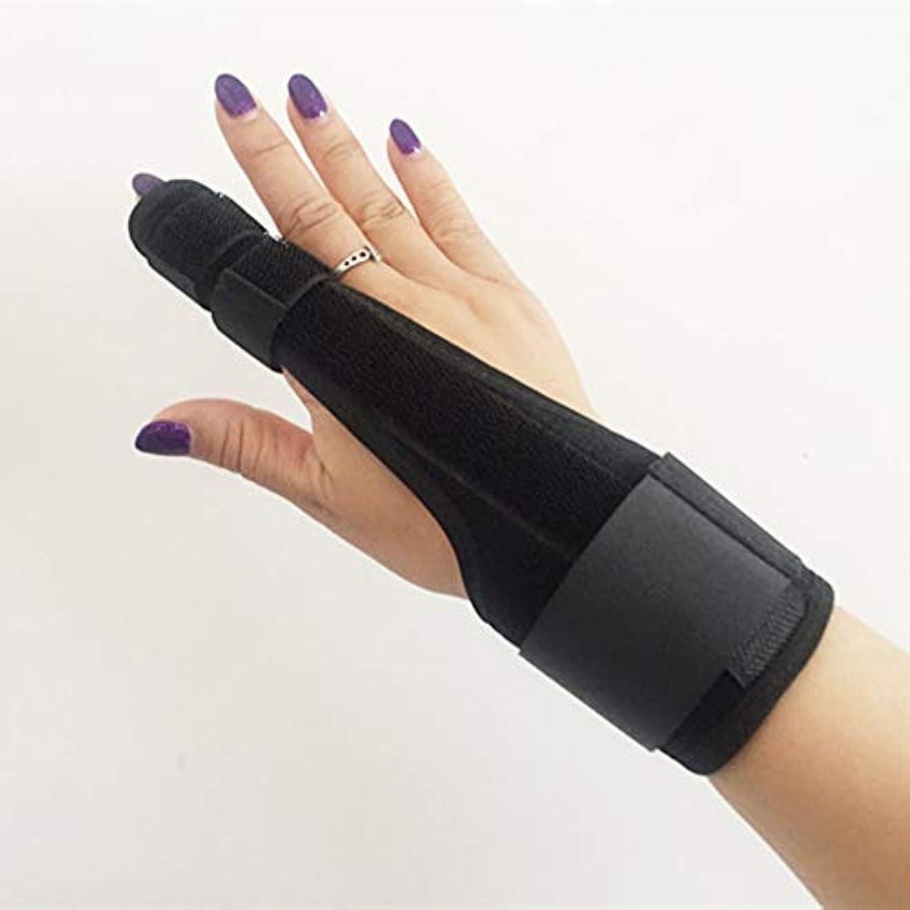 香港レコーダー持ってるZYL-YL 保護スリーブシースシース保護ギヤとプレート指指人差し指捻挫介護支援中手骨折固定指のスプリント (Edition : Right)
