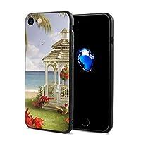Any Share 風景 海 パビリオン ヤシの木 IPhone7/8 ケース スマホケース 落下防止 カバー リング付き 全面保護 携帯カバー 携帯ケース 超薄 超軽量 衝撃 おしゃれ 男女兼用