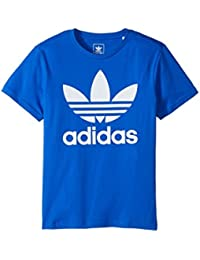 (アディダス) adidas キッズTシャツ Trefoil Tee (Little Kids/Big Kids) Blue/White XL (18 Big Kids) (XL) One Size