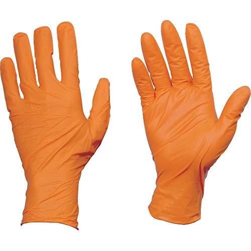 TRUSCO(トラスコ) 使い捨てニトリル手袋TGワーク 0.10 粉無オレンジL TGNN10OL