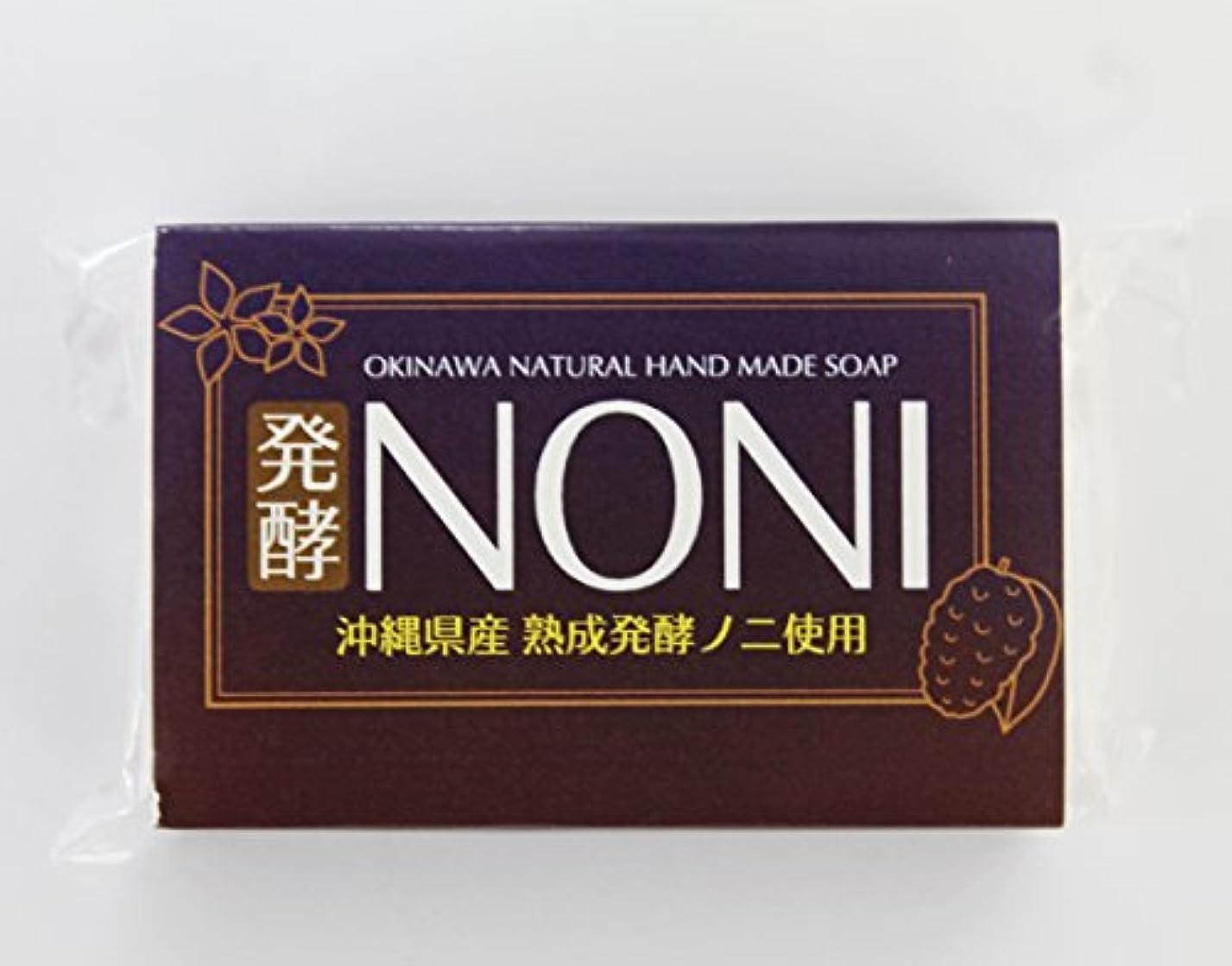 流暢ロック控える沖縄 手作り ナチュラル洗顔 NONI石鹸 100g×30個 GreenEarth 発酵ノニを使用した保湿力の高いナチュラルソープ