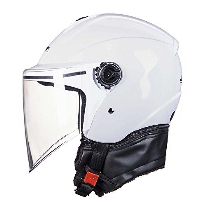 レンチバラ色。luckysky JK519 バイクヘルメット ヘルメット ハーフヘルメット マフラー 取り外す可能  バイク用 シールド付き アウトドア&スポーツ 通気吸汗 調節可能 ジェットヘルメット メンズ レディース  システムヘルメット 多色選択可能 オールシーズン