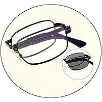 Comfortable HD Anti-Blue Light Folding Reading Glasses Portable Male Anti-Fatigue Elderly Female Old Glasses Beautiful (Color : Black, Size : +2.75)