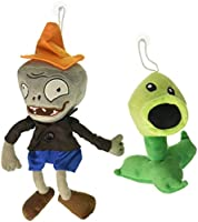 "Toyswill ® Plants vs Zombies Plush Toys Coneheadゾンビ10 ""、Peashooter 17 cm / 6.7 ""高さ"