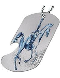 Dressage horse – ボトルOpener犬タグネックレス