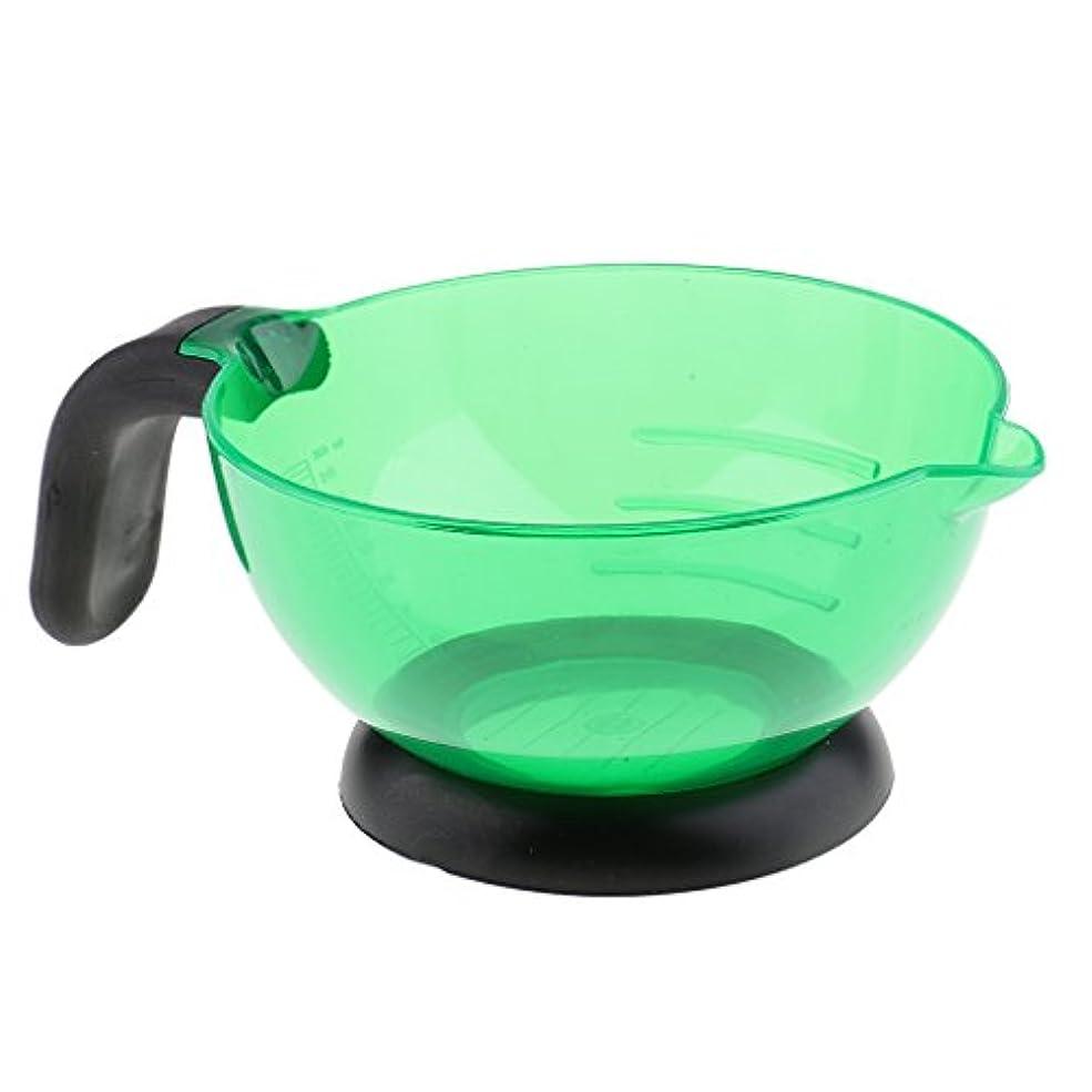 運動差別するトロイの木馬Perfeclan ヘアカラー 染め用具 美容室/サロン 染剤ボウル 調和用ボウル シリコン製 滑り止め 全3色 - 緑