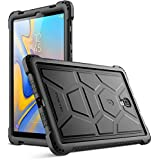 Galaxy Tab A 10.5 Case, Poetic TurtleSkin Series [Corner/Bumper Protection][Bottom Air Vents] Protective Silicone Case for Samsung Galaxy Tab A 10.5 (SM-T590/T595) - Black