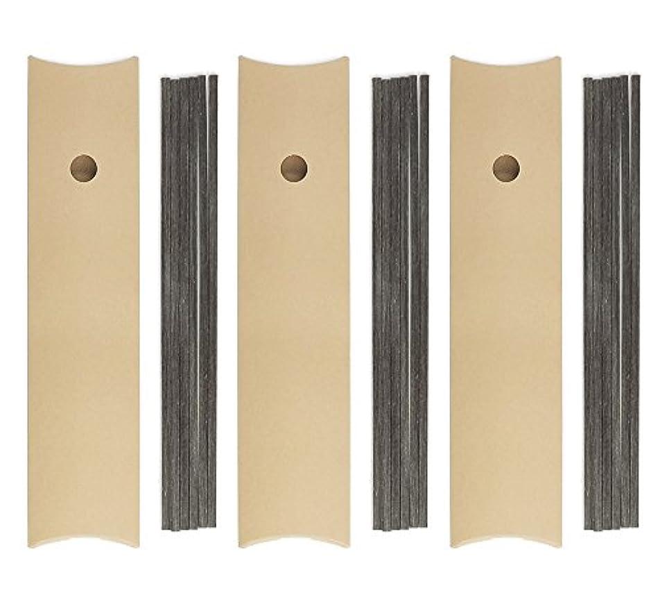 素晴らしき瞑想的法令リードディフューザー スティック ダークブラウン 25cm 四角柱 6本入 × 3個