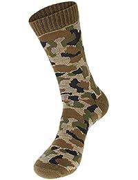 EOZY ソックス 靴下 メンズ 通気性 迷彩柄 ロングソックス リブソックス コットン 吸汗性 カジュアル 個性的 男性用 オールシーズン 全7色