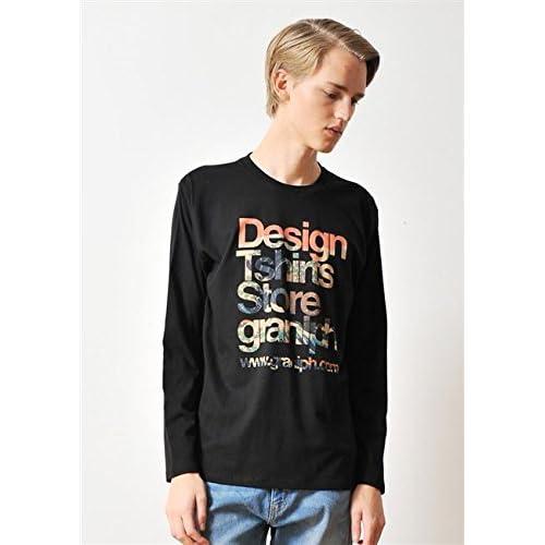 (グラニフ)graniph ベーシックロングスリーブTシャツ / ビッグウェーブタテロゴ ( ブラック ) M
