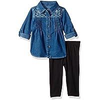 U.S. POLO ASSN. Baby Girls' Fashion Top and Legging Set
