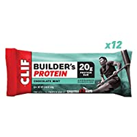Clif Bar Builders Protein Bar Chocolate Mint Flavour 20 g Protein 68 g (pack of 12)