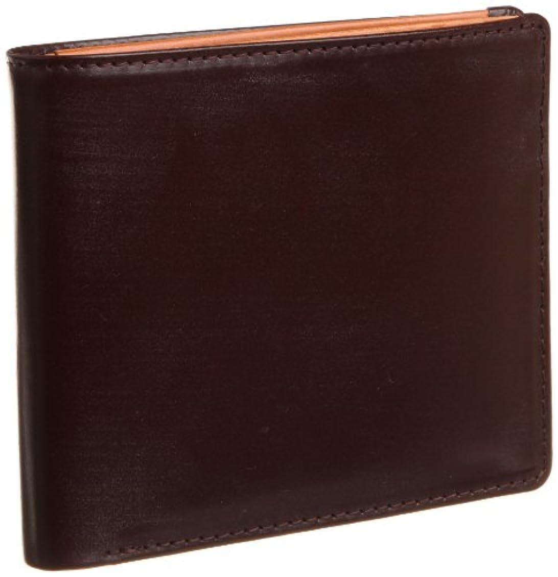 人形置くためにパック指定する[ブリティッシュグリーン] BRITISH GREEN ダブルブライドルレザー二つ折り財布