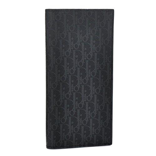DIOR HOMME(ディオール・オム) 財布 メンズ PVCコーティングキャンバス 2つ折り長財布 ダークグレー×ブラック 2DEBC002-XIS-02G [並行輸入品]
