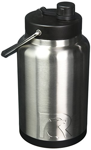 (Half Gallon, Stainless Steel) - RTIC Double Wall Vacuum Insulated Stainless Steel Jug (Stainless St...