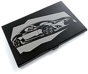 ブラックアルマイト「トヨタ(TOYOTA) 86」切り絵デザインのカードケース[CC-029]