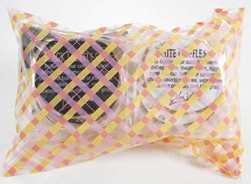 ラッピング包装 ジャパンソルト 黒トリュフ塩25g×1白トリュフ塩25g×1 (ギンガムチェック)