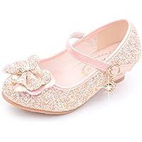 通用 Hebang Girls Princess Ballet Shoes Brillant 3 cm Heel Glitter Dress for Pretty Girl Summer
