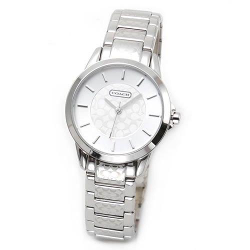 [コーチ] COACH 腕時計 レディース New Classic Signature Small (ニュー クラシック シグネチャー スモール) シルバー 14501609 [並行輸入品]