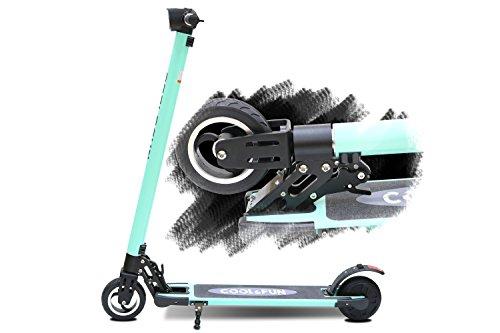 Cool&Fun 電動 キックボード キックスクーター 電動 スケーター カーボン製 LEDライト搭載 最高時速20キロ 折りたたみ 立ち乗り式 大人用