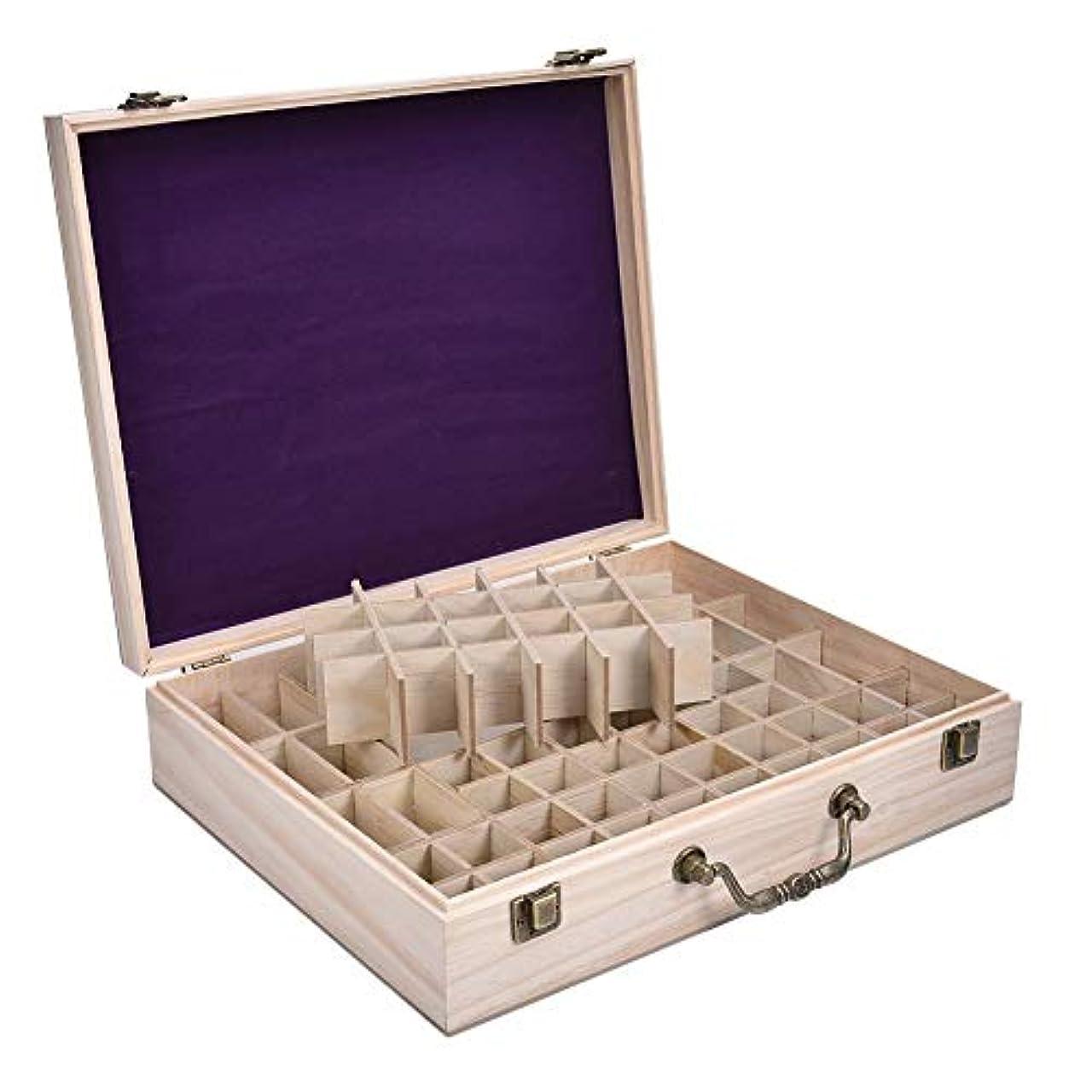 カリング良心的シャックルエッセンシャルオイルボックス エッセンシャルオイル収納ボックス レトロ 和風 木製 精油収納 携帯便利 68本用