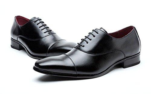 Aisxle ビジネスシューズ カジュアル 紳士靴 メンズ 内羽根 本革 ストレートチップ 2色 ブラック/260