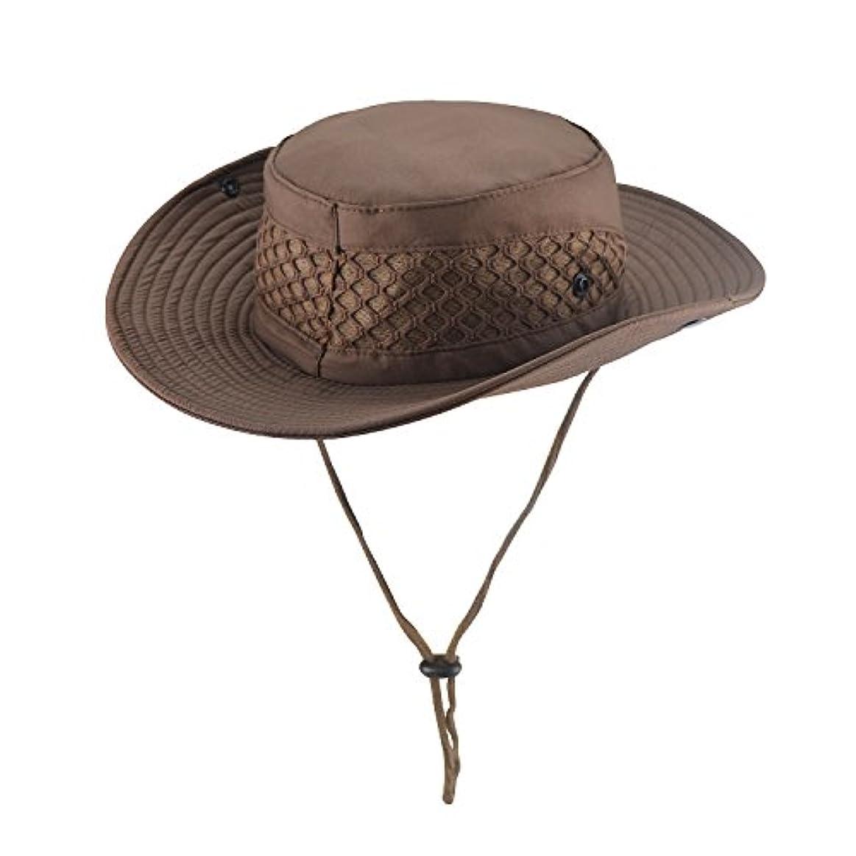 屋外用バケツ形釣り帽子 防水 ユニセックス 通気性のあるメッシュ 紫外線保護