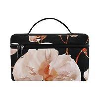 GGSXD メイクボックス 美しいシュンラン コスメ収納 化粧品収納ケース 大容量 収納ボックス 化粧品入れ 化粧バッグ 旅行用 メイクブラシバッグ 化粧箱 持ち運び便利 プロ用