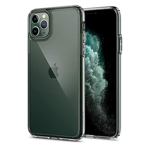 【Spigen】 スマホケース iPhone 11 Pro Max ケース 6.5インチ 対応 背面 クリア 米軍MIL規格取得 耐衝撃 カメラ保護 衝撃吸収 Qi充電 ワイヤレス充電 ウルトラ・ハイブリッド 075CS27135 (クリスタル ・クリア)