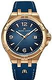 Maurice Lacroix Aikon 自動巻き腕時計 ブロンズ 42mm ブルー AI6008-BRZ01-420-1-1