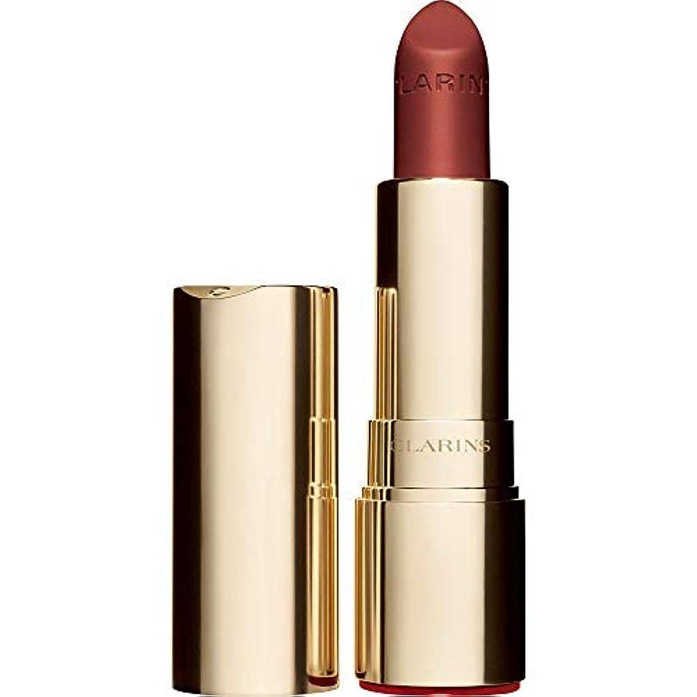 記者神社弓[Clarins ] クラランスジョリルージュのベルベットの口紅3.5グラムの737V - スパイシーなシナモン - Clarins Joli Rouge Velvet Lipstick 3.5g 737V - Spicy...