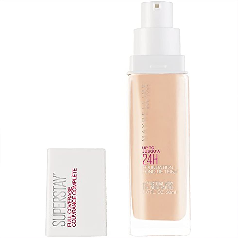 プラスチック緩む疾患MAYBELLINE Superstay Full Coverage Foundation - Natural Ivory 112 (並行輸入品)